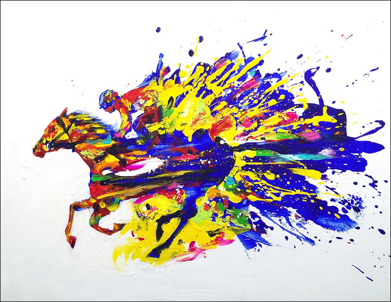 """Original piece """"Horse racing 2"""""""