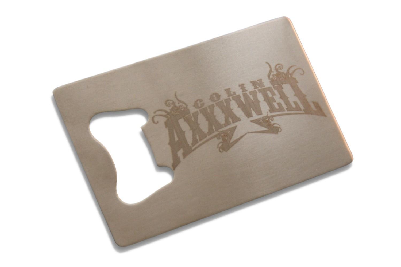 Colin Axxxwell Card Bottle Opener