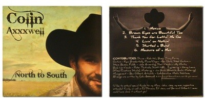 North to South, CD Album by Colin Axxxwell 2014