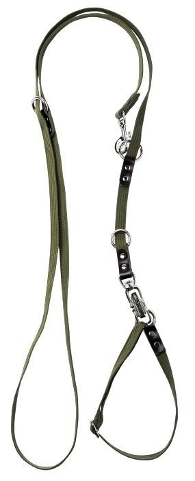 hunting leash in webbing with quick release