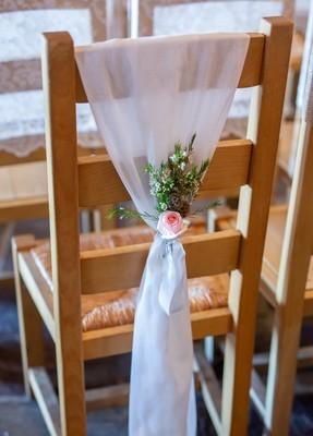 Chair fabric decor - White, Blush or Grey