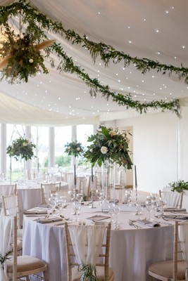 Foliage ceiling garlands