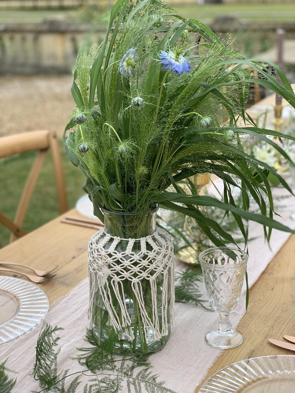 Boho Glass Vase