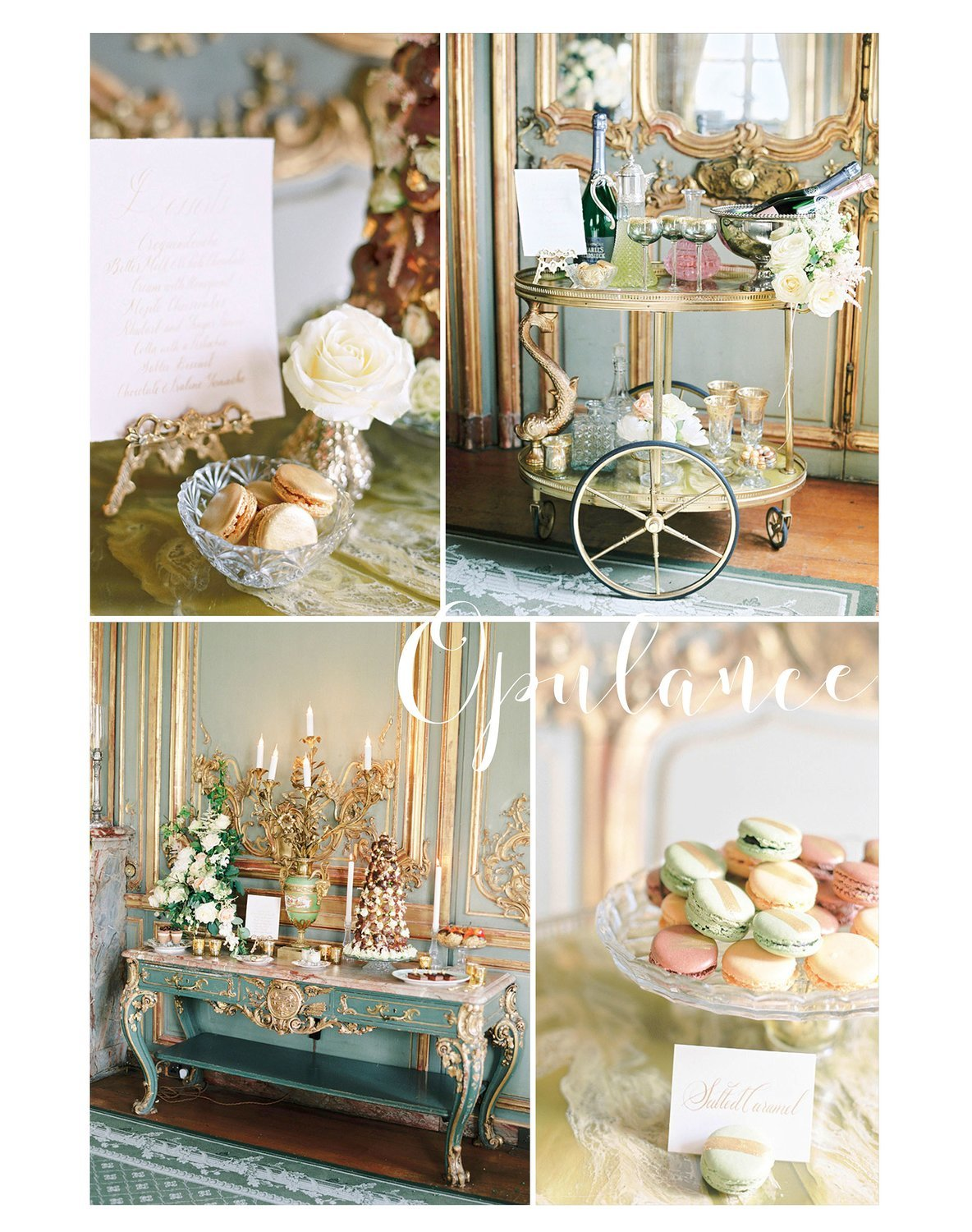 Antique Gold trolley