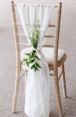 White fabric chair decor