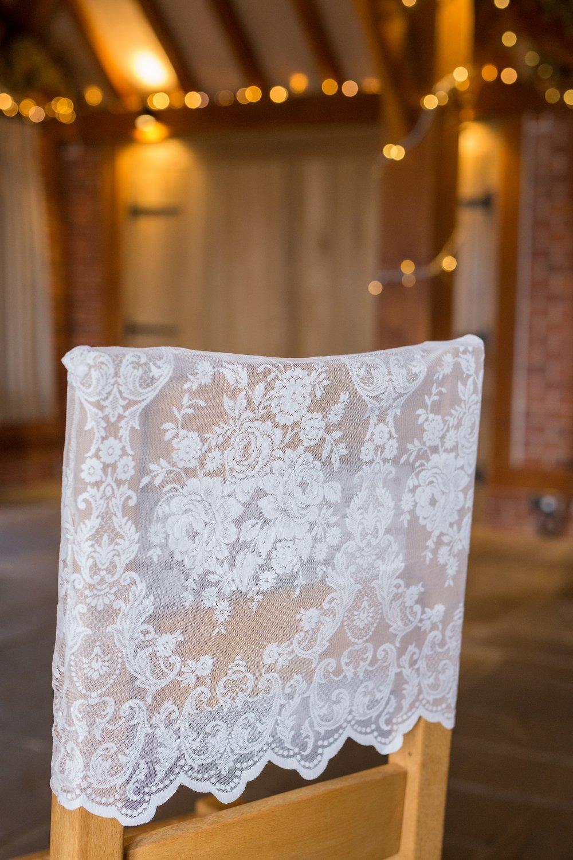 Lace chair hood