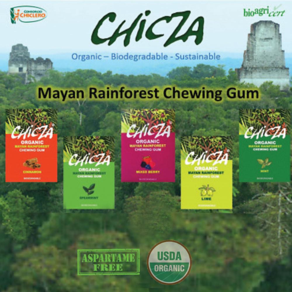Chicza Organic Rainforest Gum Sample Mix 5 x 30g packets