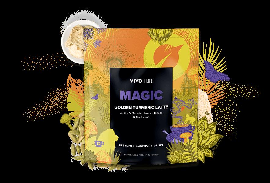 Magic Turmeric Latte with Lions Mane mushroom