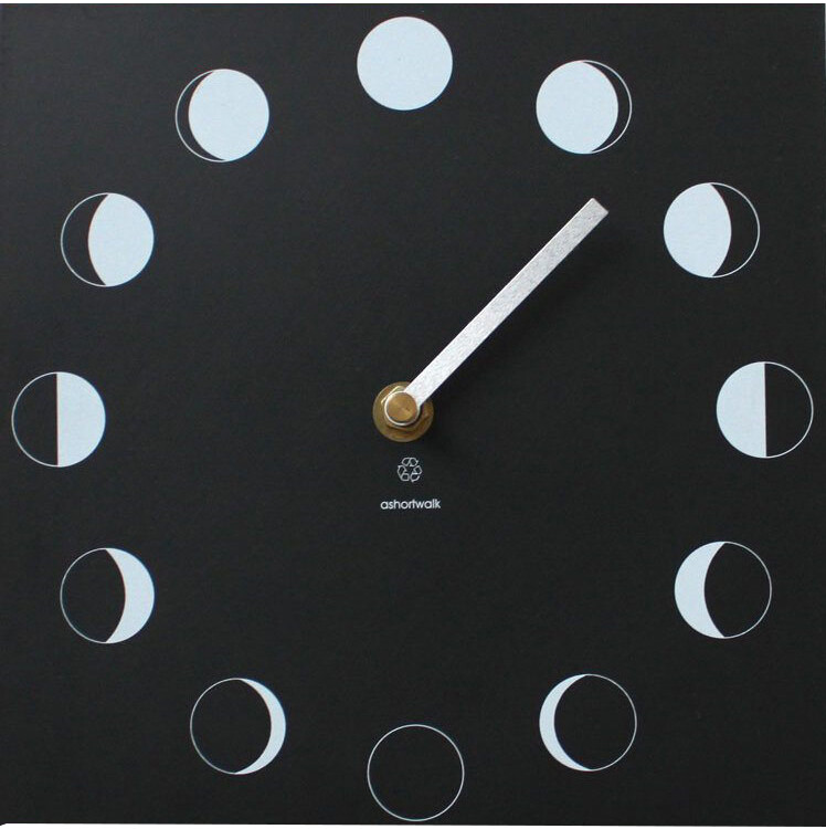 Moon Phase Wall Clock - Specially Crafted from recycled paper packaging