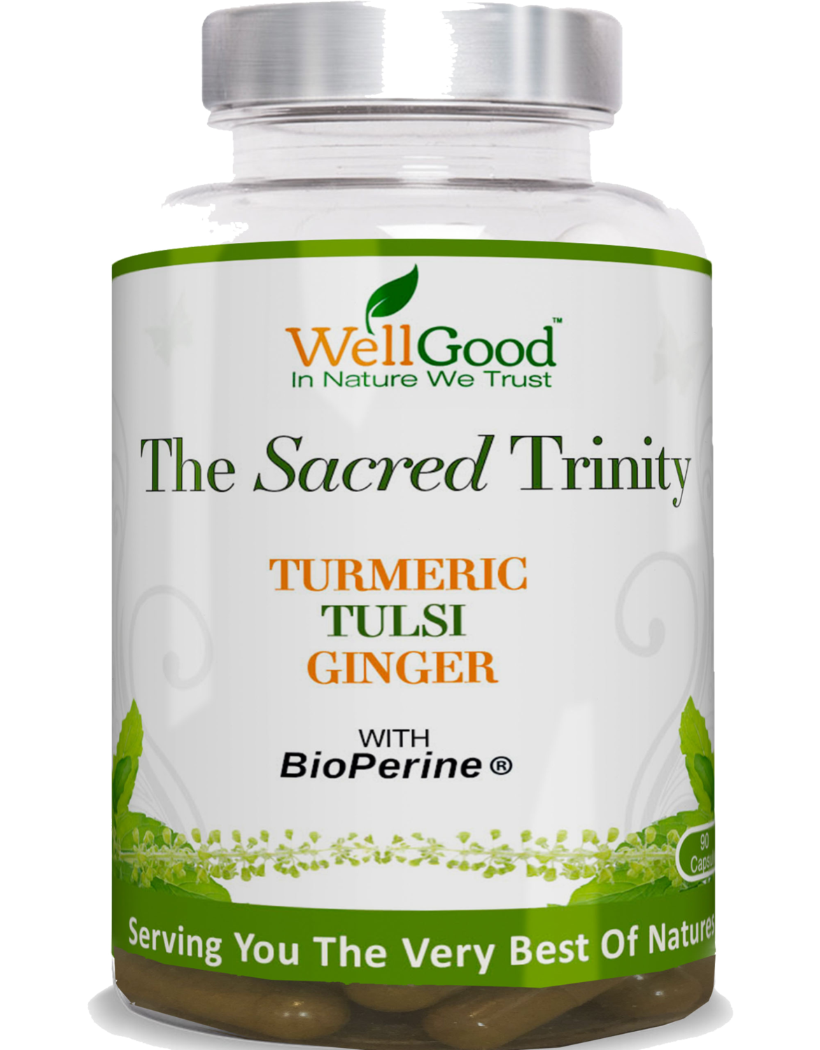 The Sacred Trinity - Turmeric, Holy Basil, Ginger with black pepper extract | 3 Months Supply