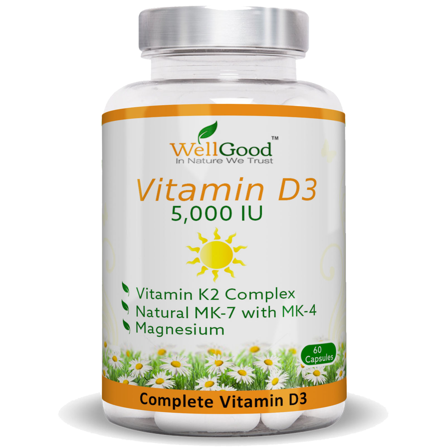 High Strength  Vitamin D 5000 IU with Vitamin K Complex - Immune & Winter Support | 2 months Supply
