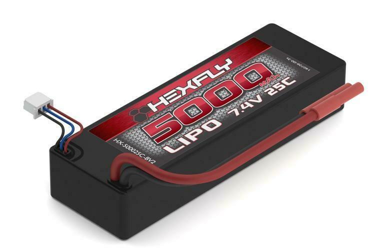 Hexfly 7.4v 5000mAh Lipo Battery