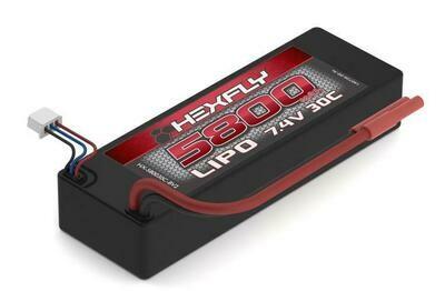 Hexfly 7.4v 5800mAh Lipo Battery