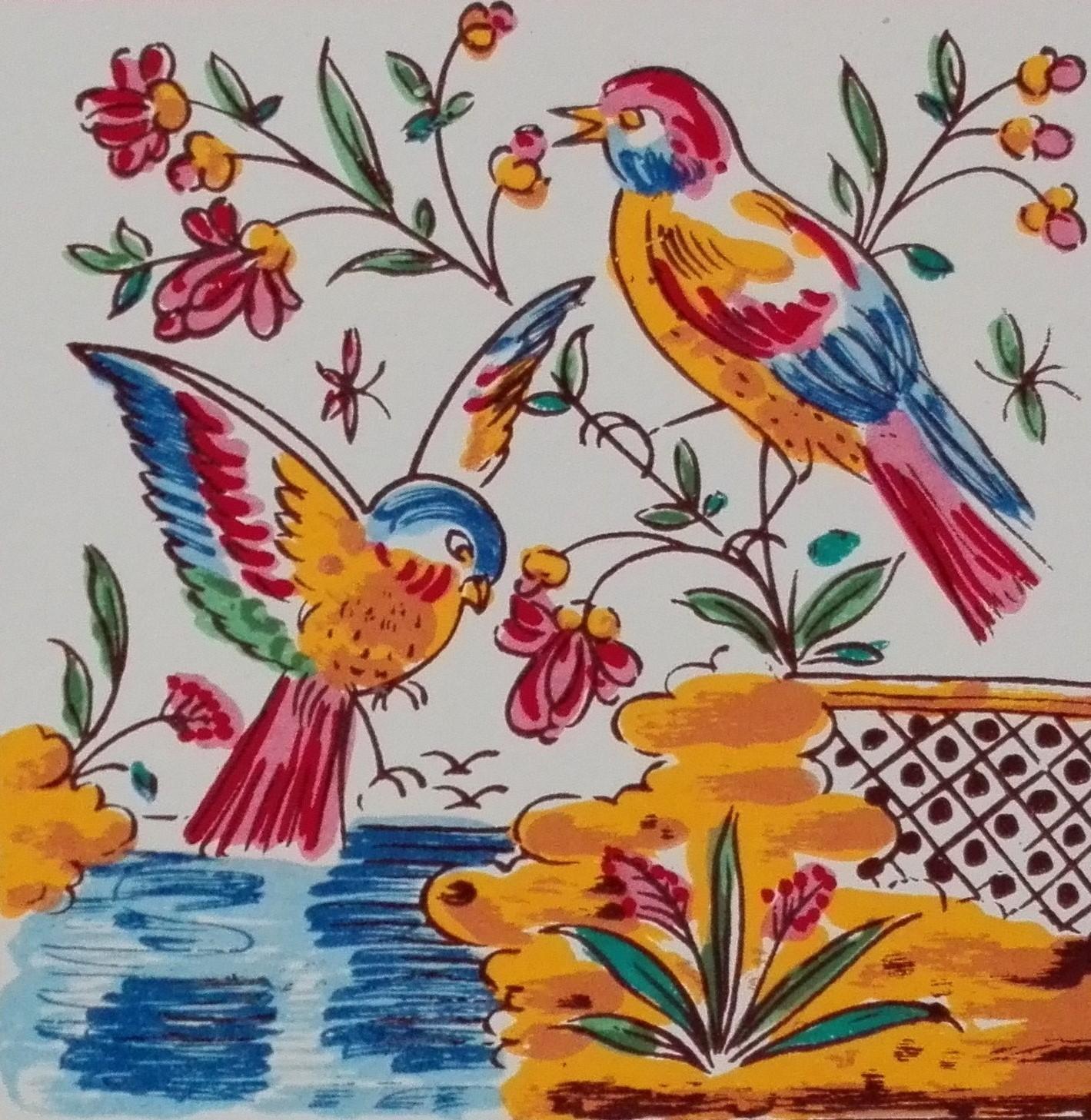 Pássaros Cores 15x15