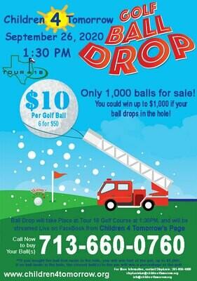 Children 4 Tomorrow Golf Ball Drop