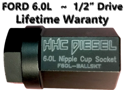 FORD 6.0L Diesel ~Nipple Cup/Ball Tube Socket~ 1/2