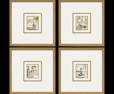 Fountains / Set of 4 | Giclée