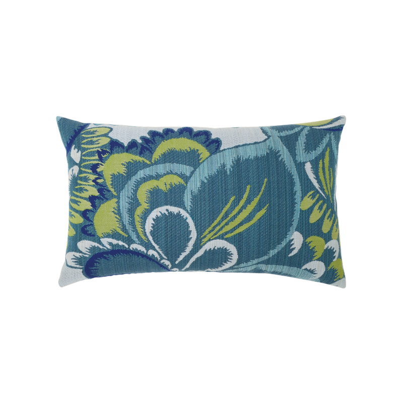 "Elaine Smith Floral Wave 12"" x 20"" Lumbar Pillow"