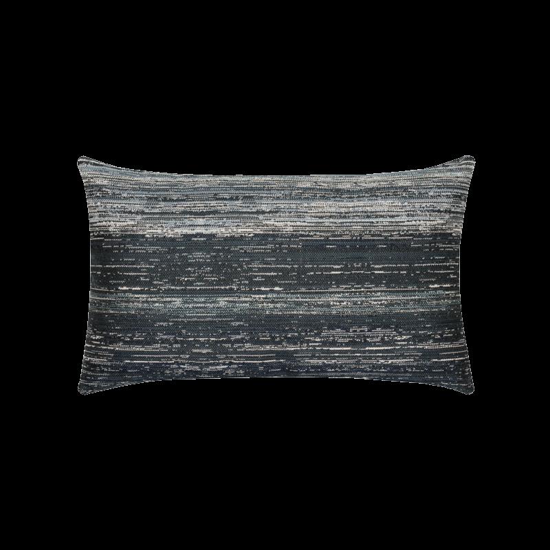 """Elaine Smith Textured Indigo 12"""" x 20"""" Lumbar Pillow"""
