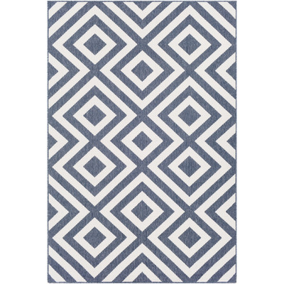 Alfresco Indoor/Outdoor Rug | Charcoal & White | 8 Sizes