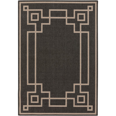 Alfresco Indoor/Outdoor Rug | Black and Camel | 8 Sizes