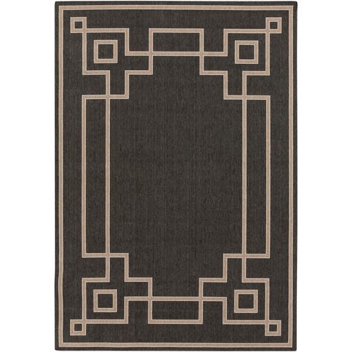 Alfresco Indoor/Outdoor Rug | Black and Camel | 8 Sizes