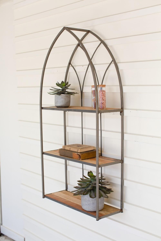 Recycled Wood and Metal  Bookshelf