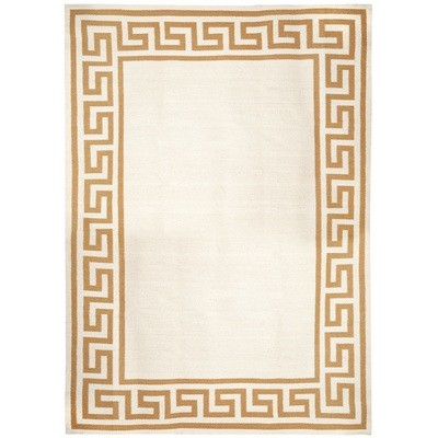 Rectangle  Greek Key Border Reversible  Rug | 2 Sizes