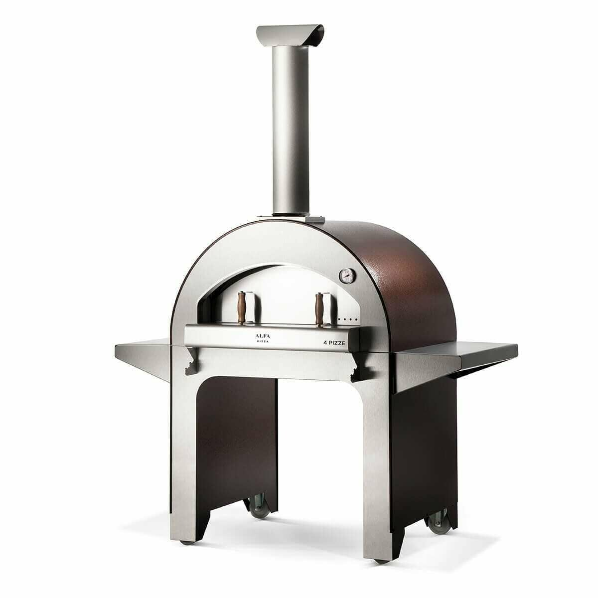 Alfa 4 Pizze Wood Fired Oven with Base