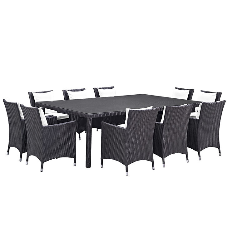 Hinsdale Patio 11 Piece Outdoor Dining Set