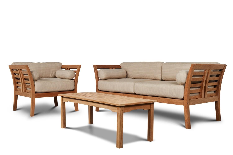 Teak Patio Sofa Set Chicago Living Home