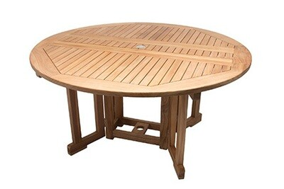 Deluxe Teak Round Dining Table  | 2 Sizes