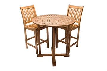 South Beach Teak Bar Table 3 Piece Set