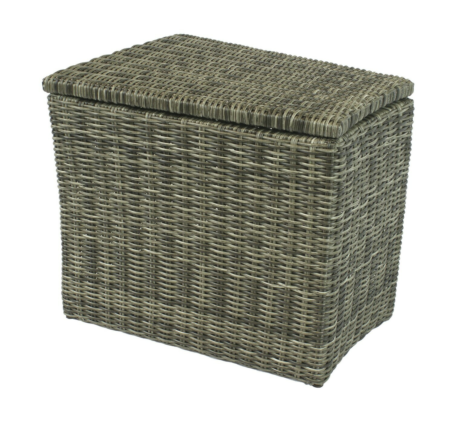 Allegro Wicker Collection Wedge Table with Storage