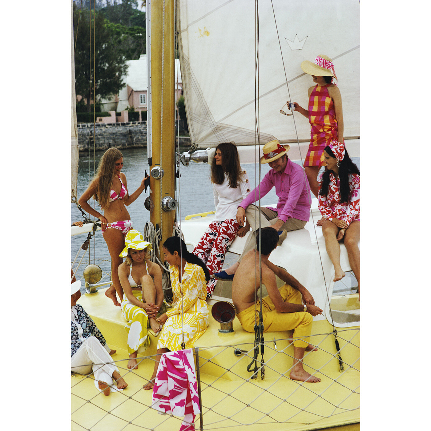 "Slim Aarons ""Colourful Crew"" Photograph 