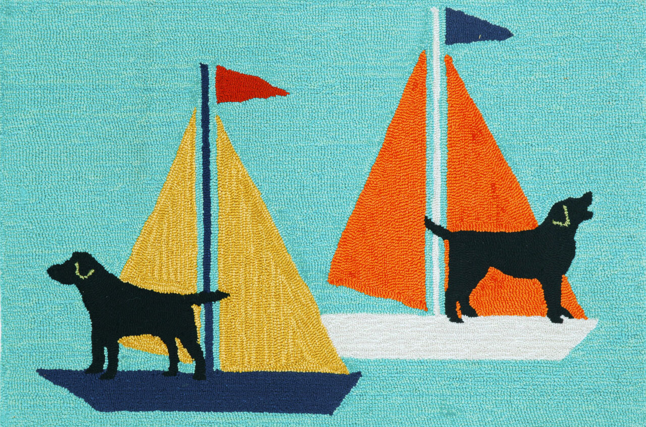 Sailing Dogs 4 Sizes