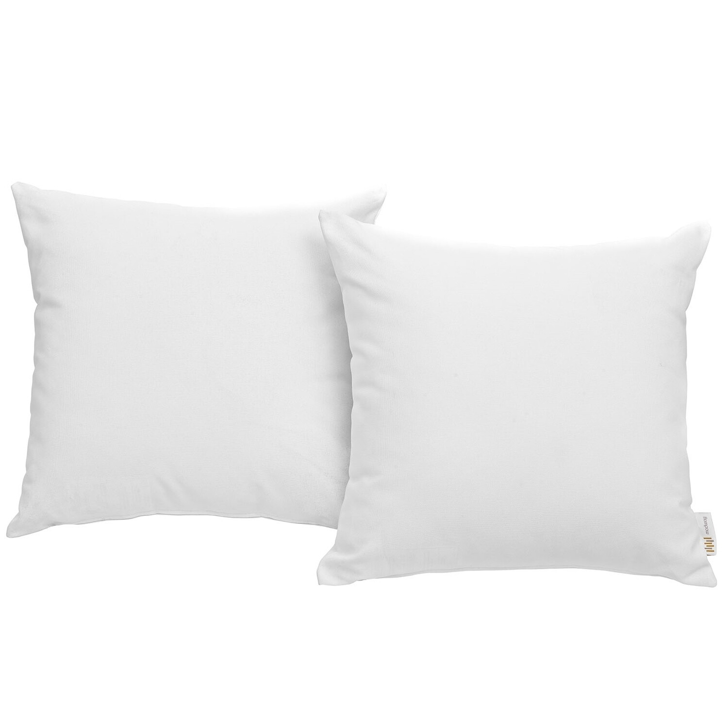"Hinsdale Patio 2 Piece Pillow Set  17"" x 17"" in White"