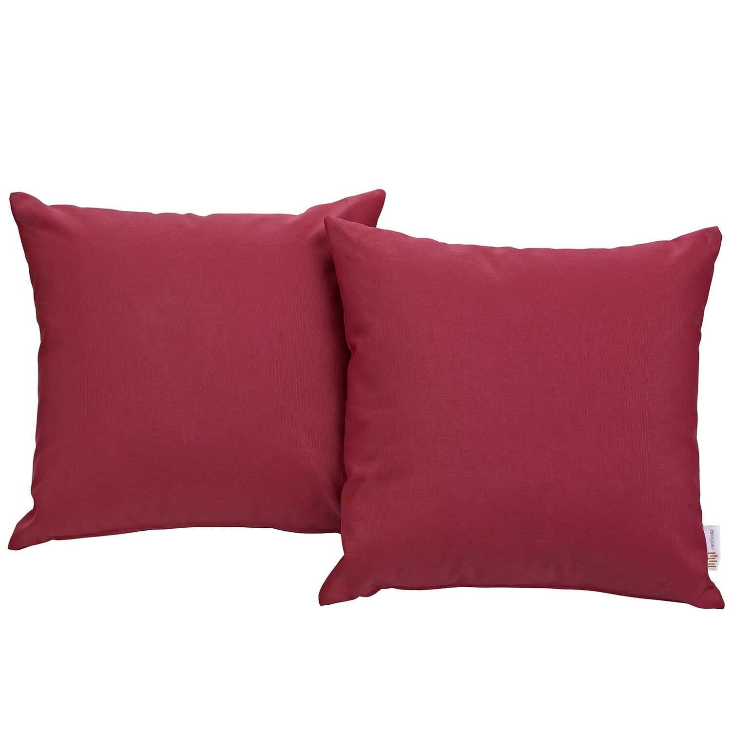 "Hinsdale Patio 2 Piece Pillow Set  17"" x 17"" in Red"
