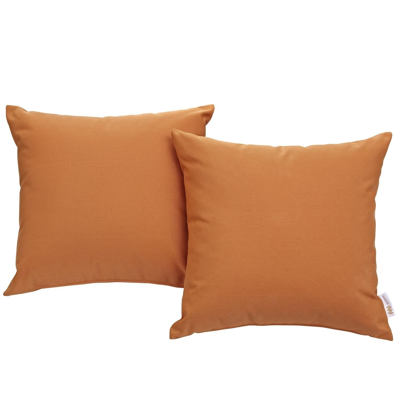"Hinsdale Patio 2 Piece Pillow Set  17"" x 17"" in Orange"