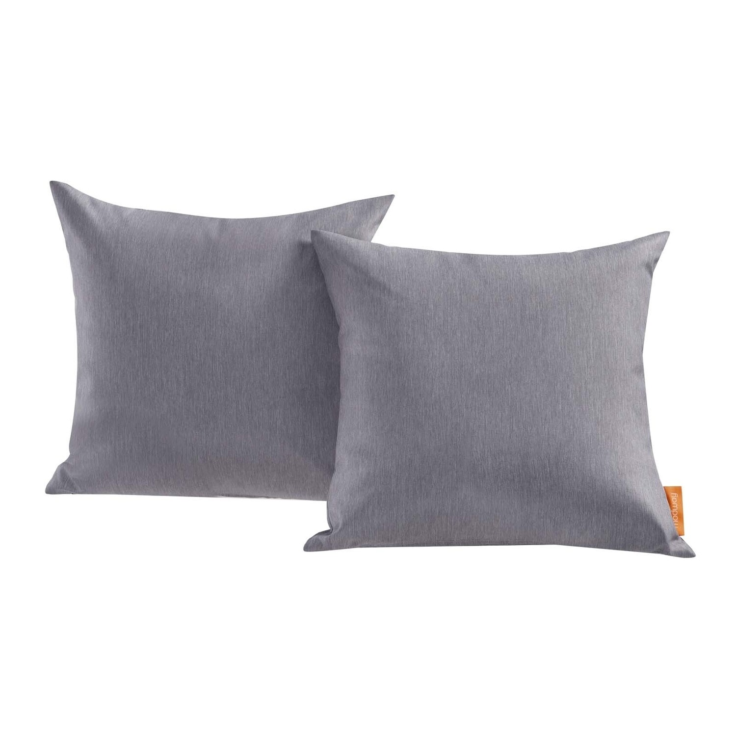 "Hinsdale Patio 2 Piece Pillow Set  17"" x 17"" in Gray"