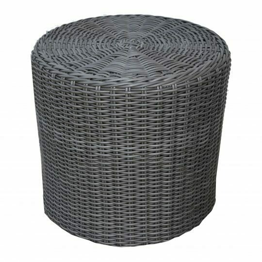 """Cove 20"""" Fully Woven Drum-Shaped End Table"""