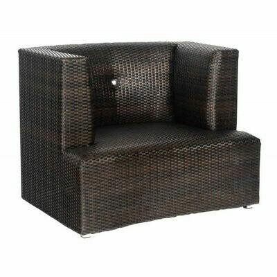 MacBeth Collection Black Olive Wicker Club Chair