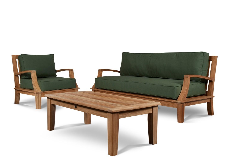 Grand Avenue Outdoor Teak Sofa Set