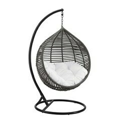 Moondrop Swing Lounge Chair | Gray Wicker | 4 Colors