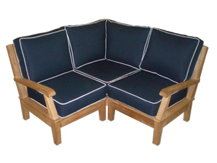 Coastal Premium Teak Sectional Sofa Base Set