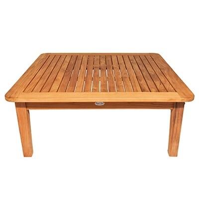 South Beach Teak Square Sofa Table