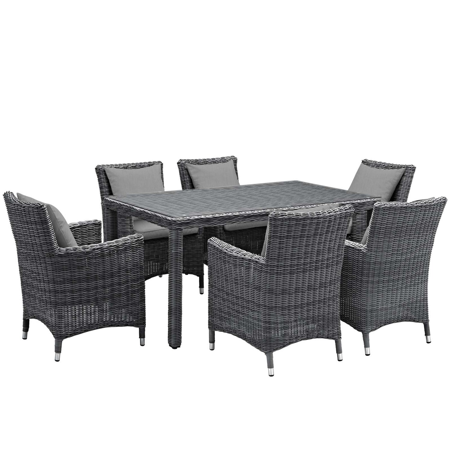 North Avenue 7 Piece Patio Rectangle Dining Set
