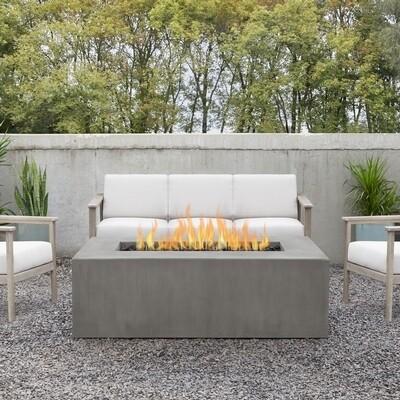Calvin's Casual Rectangle GFRC Fire Table