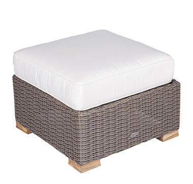 Naples Wicker Ottoman