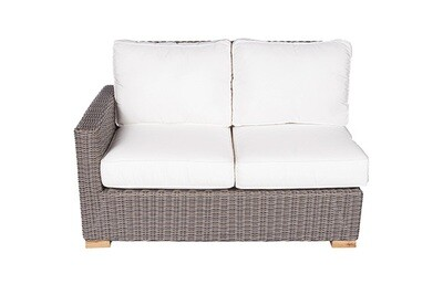 Naples Wicker Sectional Sofa 2 Seat Right Arm